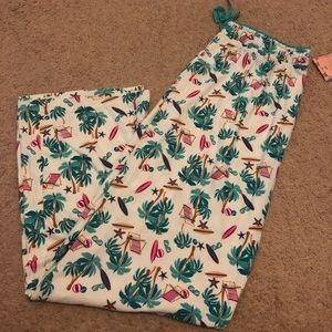 Tropical pajama pants
